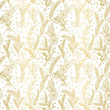 Seamless Vector Pattern of Faux Gold Foil Christmas Holiday Florals Royalty Free Stock Photography