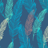 Seamless vector pattern with feather Royalty Free Stock Images