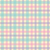 Green, pink, purple and yellow plaid seamless vector pattern royalty free illustration
