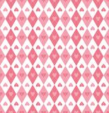 Pink heart argyle seamless vector pattern stock illustration