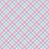 Diagonal plaid seamless vector pattern in pink, blue, green and purple. This seamless vector pattern features a feminine plaid design with blue, green and purple vector illustration