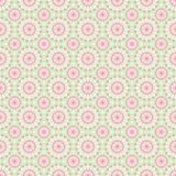 Floral mandala seamless vector repeat pattern in pink and green vector illustration