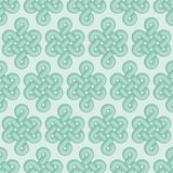 Green celtic knot seamless vector pattern stock illustration
