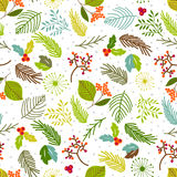 Seamless vector pattern with floral elements. Stock Photography