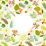 Seamless vector pattern with floral elements. Stock Image