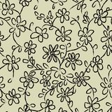 Seamless vector pattern with flower doodles stock illustration