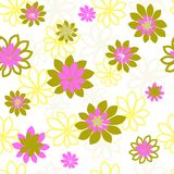 Seamless vector pattern with flowers. Flower pattern. Prints for textiles with flowers. Scrapbook paper, wrapping paper Royalty Free Stock Photography
