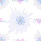 The seamless vector pattern with flowers. The vector picture. EPS 8 Royalty Free Stock Images