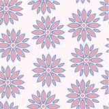 Seamless vector pattern of flowers Stock Photography