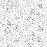 Seamless vector pattern of flowers Royalty Free Stock Photography