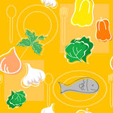 Seamless vector pattern food Stock Image
