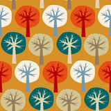 Seamless vector pattern of four seasons of the year Stock Image