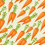 Seamless vector pattern with fresh ripe carrots Stock Photos