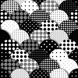 Rhombuses patchwork pattern. Seamless vector pattern. Geometric patchwork pattern of circles. Imitation of a relief. Vector image vector illustration