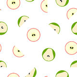 Seamless vector pattern with geometric simple fruits. Royalty Free Stock Photo