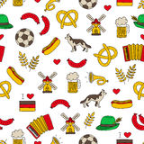 Seamless vector pattern of the Germanic icons Stock Photo