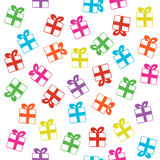 Seamless vector pattern with gifts. Beautiful vector design Stock Photo