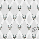 Seamless Vector Pattern of goat on rough background Royalty Free Stock Image