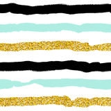 Seamless vector pattern with gold glitter Royalty Free Stock Image