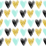 Seamless vector pattern with gold glitter Royalty Free Stock Images