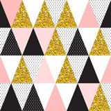 Seamless vector pattern with gold glitter Stock Images