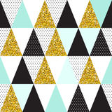 Seamless vector pattern with gold glitter Stock Photo