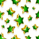Seamless vector pattern with golden stars Stock Image