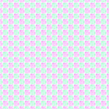 Seamless vector pattern. Green and pink geometrical background with hand drawn squares. Stock Image