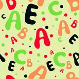 Seamless colorful childish alphabet pattern royalty free illustration