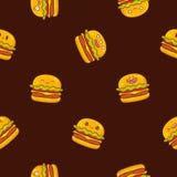 Seamless vector pattern of hamburgers Stock Image