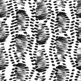 Seamless vector pattern, hand drawn brush textured image inspire Royalty Free Stock Photography