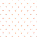 Seamless vector pattern with hand drawn heart. Seamless vector pattern with pastel hand drawn hearts for baby design. Sleepy design. Textile background for girl Stock Photo
