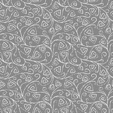 Seamless vector pattern with hand drawn irregular lines. Royalty Free Stock Photography