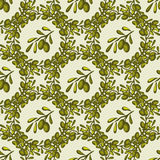 Seamless vector pattern with hand-drawn olive brunches. Olive background Royalty Free Stock Images