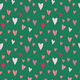 Seamless vector pattern with hearts Stock Images