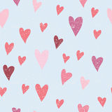 Seamless vector pattern with hearts Stock Photos