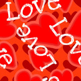 Seamless vector pattern with hearts for a Valentine`s Day. Royalty Free Stock Photos