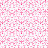 Seamless vector pattern with hearts. Valentine`s Day background for greeting cards, scrap booking, textile and wrapping paper Royalty Free Stock Photography