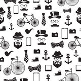 Seamless vector pattern in hipster style Royalty Free Stock Photos