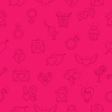 Seamless vector pattern of icon Valentine's Day Stock Photography