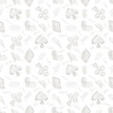 Seamless vector pattern with icons  Stock Image