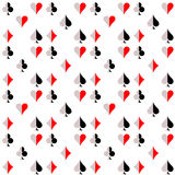 Seamless vector pattern with icons of playings cards Royalty Free Stock Photo