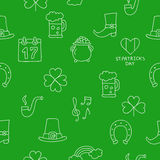 Seamless vector pattern of the icons St. Patrick Royalty Free Stock Images