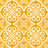 Seamless vector pattern. Vector illustration of a 70s wallpaper. Seamless pattern Stock Images