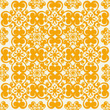Seamless vector pattern. Vector illustration of a 70s wallpaper. Seamless pattern Royalty Free Stock Image