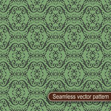 Seamless green vector pattern Royalty Free Stock Photo