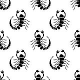 Seamless vector pattern with insects Royalty Free Stock Photo