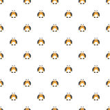 Seamless vector pattern with insects, cute background with comic colorado beetle Royalty Free Stock Photo