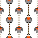 Seamless vector pattern with insects, cute background with comic colorado beetle. Royalty Free Stock Image