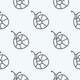 Seamless vector pattern with insects, symmetrical background with snails Royalty Free Stock Photo